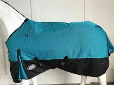 AXIOM 1800D BALLISTIC WATERPROOF BRIGHT BLUE/ BLACK 300g WINTER HORSE RUG - 6' 6