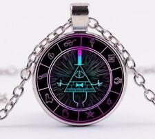 Steampunk Drama Gravity Falls Mysteries BILL CIPHER WHEEL Pendant Necklace Glass
