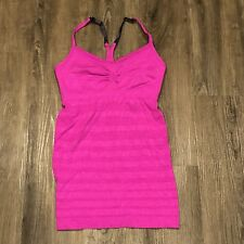 Lululemon Ebb & Flow Tank 6 Paris Pink Workout Support Top Adjustable Straps