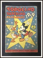 TOPOLINO PAPERINO ALMANACCO 1939 - (2* copia) - Mondadori - DISNEYANA.IT