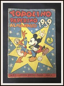⭐️ TOPOLINO PAPERINO ALMANACCO 1939 - Mondadori - DISNEYANA.IT⭐️