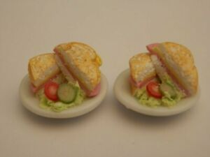 Dolls house food: Ham & cheese toasties for two -By Fran