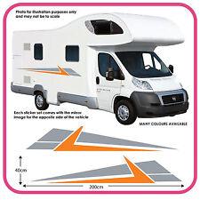 CAMPER GRAFICA in vinile adesivi decalcomanie RV Caravan Box per cavalli mh3d