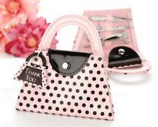 25 Pink Polka Dot Purse Manicure Set Bridal Shower Wedding Favors