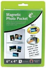 "Magnetic Photo Pocket Fridge Magnet Photograph Holders 6"" x 4"""