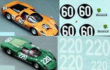 Porsche 906 CARRERA 6-2 versch.modelle 1:24 Pegatina Adhesivo