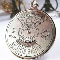 New Cool 50 Years Perpetual Calendar Key Chain Keyring Keyfob Metal Alloy Ring