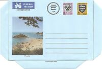 Jersey,4P And 20P Arms And views, Portelet Air Letter. Uprated 2p. Unused