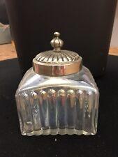 Vintage Inspired Glass Jar with Metal Lid