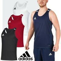 Adidas T19 Team Wear Mens Sleeveless Sports Singlet Gym Training Vests CLIMACOOL