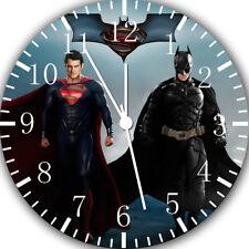 Superman Batman Frameless Borderless Wall Clock For Gifts or Home Decor E111