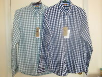 Tailor Vintage Men's Long Sleeve Button-Down Gingham Fast Dry Performance Shirt