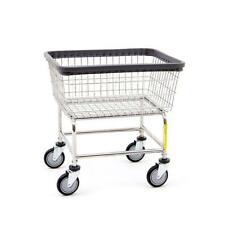 COMMERCIAL HEAVY DUTY WIRE LAUNDRY BASKET CART! NEW!