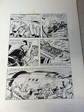 BUCK ROGERS #18 pg 20, original comic book art SPACE CREATURES ATTACK SPACE SHIP