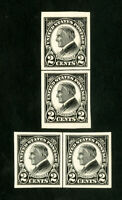 US Stamps # 611 XF Vertical & horizontal line pairs OG NH