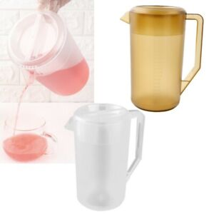 2.4 Litre Plastic Water Pitcher w/Lid Cover Mix Drinks Water Jug for Cold Juice