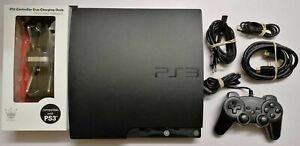 Sony Playstation 3 PS3 Slim Konsole 250GB Schwarz + Zubehörpaket + Controller