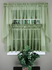 Stylemaster Elegance Voile Curtain - Sheer Voile Curtain Tiers, Valance or Swags