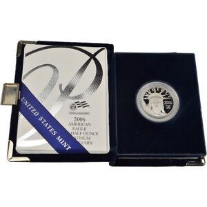 2006 W American Platinum Eagle Proof 1/2 oz $50 in OGP