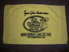 PITTSBURGH STEELERS 1980 MYRON COPE LIMITED ED SUPER BOWL XIV TERRIBLE TOWEL NOS