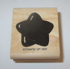 Star Rubber Stamp Stampin' Up! Puffy Retired Wood Mounted Celestial