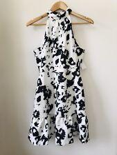 Atmos & Here Lauren Katrina High Neck Dress Mono Leopard Sz 10