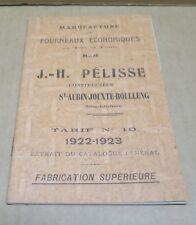 FOURNEAU catalogue manufacture de fourneaux PELISSE Saint Aubin Jouxte Boulleng