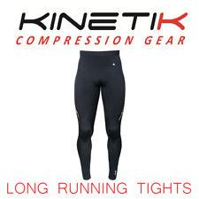 NEW KINETIK Men's High Performance Compression Long Tight Pants Size Med Black