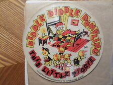 "PLAYSONG MOTHER GOOSE PLAYERS 78RPM 6+"" PICTURE DISC/DIDDLE DIDDLE DUMPLING/ VG"