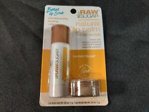 New Raw Sugar Natural Lip Balm + Lip Scrub Lip Balm .25 Oz. lip Scrub .04 Oz.