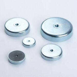 Flachgreifer Ferrit Magnet mit Innengewinde Topfmagnet Magnete Stahlgehäuse rund