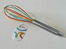 Rainbow Whisk Silicone Coloured Stainless Steel Egg Kitchen Baking Mixing Whip