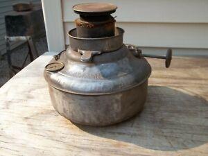 "Antique Perfection Kerosene Heater 9""OD Metal Fuel Tank Vintage Stove"