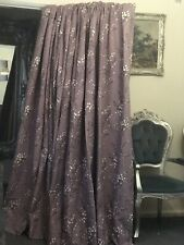 Laura Ashley Pussy Willow Grape Pinch Pleat Linen Curtains Blackout 94'D & 77'W