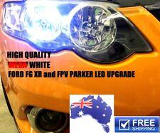*NEW* 2 x MEGA White LED parking lights upgrade for FORD FG XR6 XR8 FPV parkers