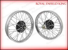 Vintage Front Rear Half Width Hub Wheel Rim Assembly For Royal Enfield Bikes BSA