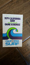 1979 COCA COLA COKE CALIFORNIA SURF NASL SOCCER POCKET SCHEDULE SKED