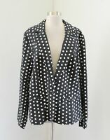 Lane Bryant Heather Charcoal Gray White Polka Dot Knit Blazer Jacket Size 24