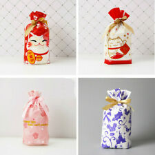 50pcs Storage Bags Christmas Candy Cookies Wrapping Drawstring Packing Gift Cute