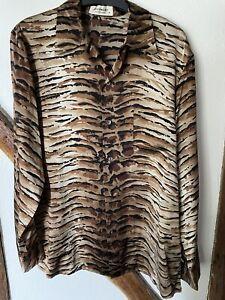Gorgeous EQUIPMENT Silk Animal Print Shirt M Bargain!