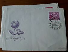 East DDR 1954,   stamp day,  first day cover   good postmark