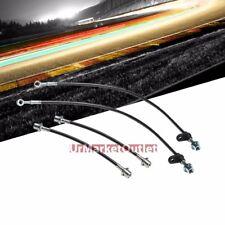 Black Front+Rear Stainless Steel Brake Line Kit for Toyota 03-08 Corolla S/CE/LE