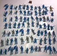 MARX? Multiple Products Co? REVOLUTIONARY HUGE lot of 80 Blue vintage soldiers!