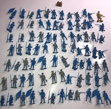 MPC Multiple Products Co? REVOLUTIONARY HUGE lot of 80 Blue vintage soldiers!