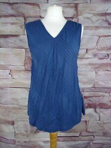 EAST lightweight blue cotton vest top size 16