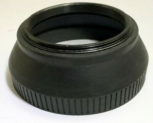 Soligor 67mm screw in Rubber Lens Hood Telephoto  double threaded front and back