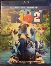 Rio 2 (Blu-ray+DVD+Digital, 2-Disc Set)  BRAND NEW SEALED + FREE SHIPPING