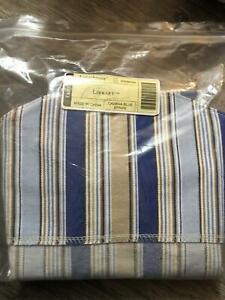 Longaberger Library Basket Cabana Blue Stripe OTE Fabric Liner Only NEW