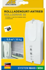 Schellenberg ROLLODRIVE 55 Mini | Maxi elektrischer Gurtwickler max 5 m² Fläche
