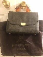 New Butterfly Angel Lady Shoulder Bag Handbag Premium Leather Brown